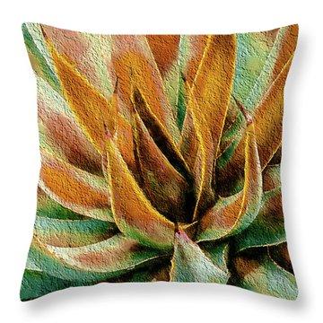 Desert Agave Throw Pillow