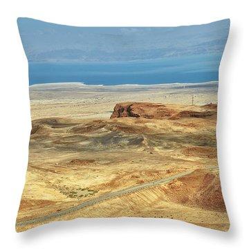 Desert And Dead Sea Throw Pillow