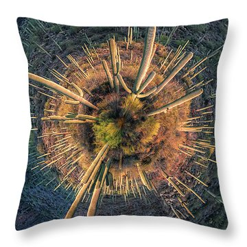 Throw Pillow featuring the photograph Desert Big Bang by Lynn Geoffroy