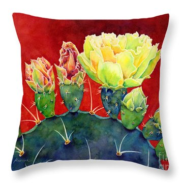 Desert Bloom 3 Throw Pillow