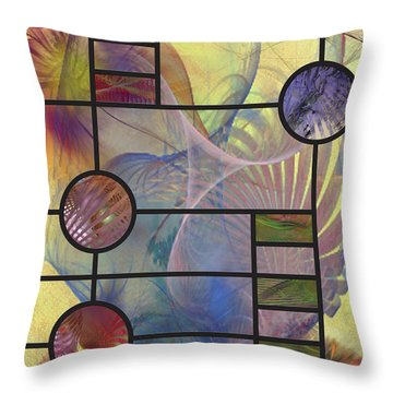 Desert Blossoms Throw Pillow