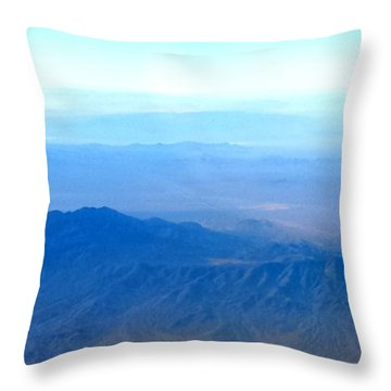 Desert Blues Throw Pillow