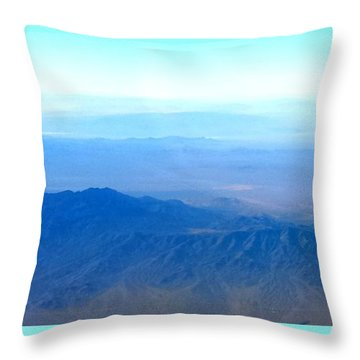 Desert Blues Throw Pillow