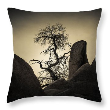 Desert Bonsai Throw Pillow