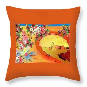 Desert Bridge Throw Pillow