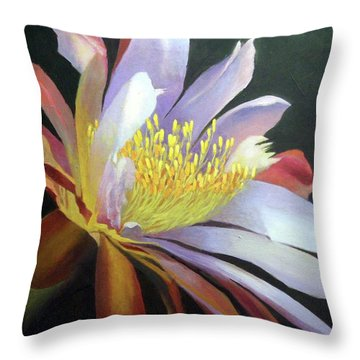 Desert Cactus Flower Throw Pillow