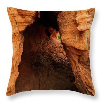 Desert Cavern Throw Pillow