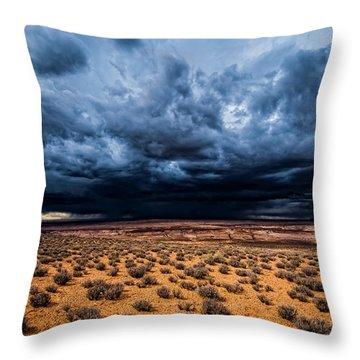 Desert Clouds Throw Pillow