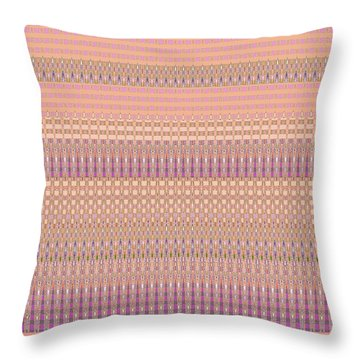 Desert Colors Abstract - Home Decor Design Peach And Pink Throw Pillow