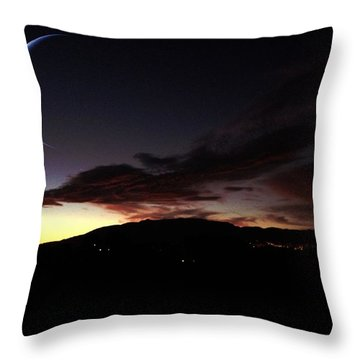 Desert Crescent Throw Pillow