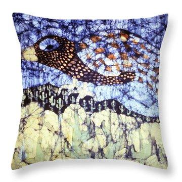 Desert Crow Throw Pillow by Carol Law Conklin