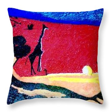 Desert Dawn Throw Pillow