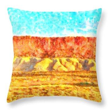 Desert Deck - Da Throw Pillow