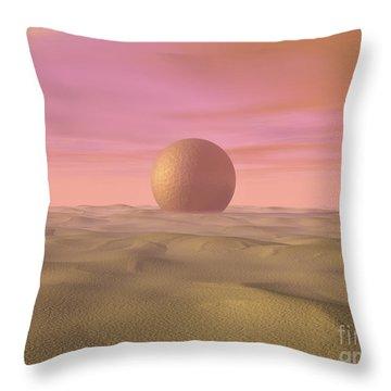 Desert Dream Of Geometric Proportions Throw Pillow