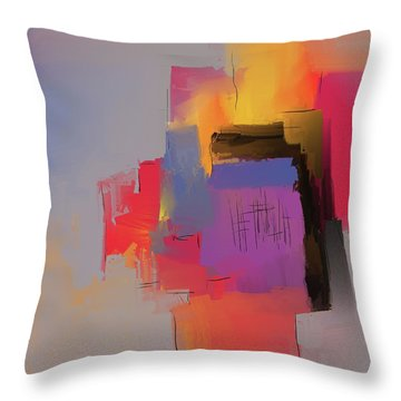 Throw Pillow featuring the mixed media Desert Evening by Eduardo Tavares