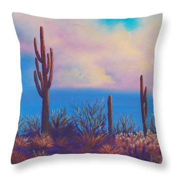 Desert Fog Throw Pillow
