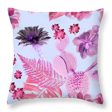 Desert Garden Throw Pillow