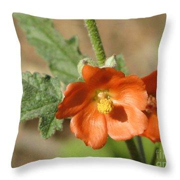 Desert Globemallow Bloom 220 Throw Pillow