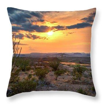 Big Bend Desert Glow II Throw Pillow