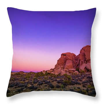 Desert Grape Rock Throw Pillow