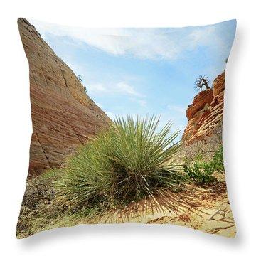 Desert Greenery Throw Pillow