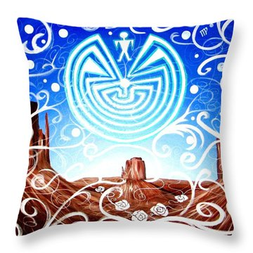 Throw Pillow featuring the painting Desert Hallucinogens by Michelle Dallocchio