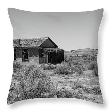 Desert Home Past Throw Pillow