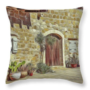 Desert House Throw Pillow