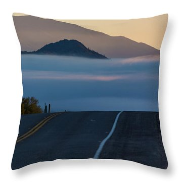Desert Inversion Highway Throw Pillow
