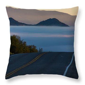 Desert Inversion Highway Throw Pillow