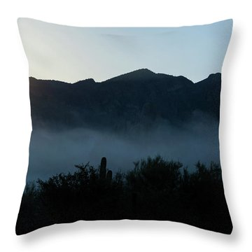 Desert Inversion Sunrise Throw Pillow
