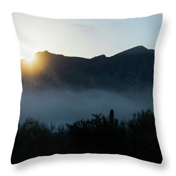 Desert Inversion Sunrise Throw Pillow