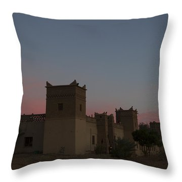 Desert Kasbah Morocco 2 Throw Pillow by Kathy Adams Clark