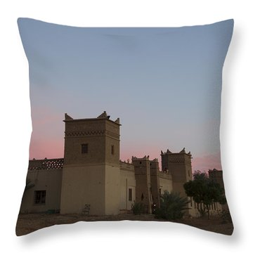 Desert Kasbah Morocco Throw Pillow