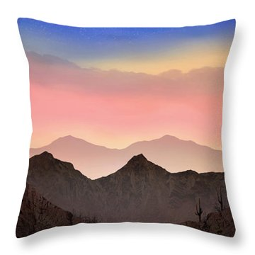 Desert Landscape Throw Pillow by Anthony Citro