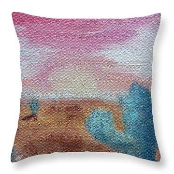 Desert Landscape Throw Pillow by Jera Sky
