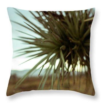 Desert Leaves Throw Pillow