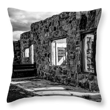 Desert Lodge Bw Throw Pillow