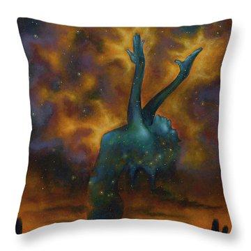 Desert Magic Throw Pillow