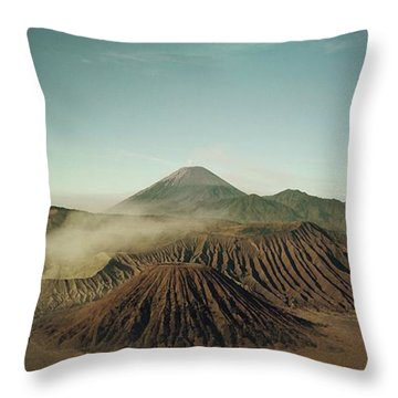 Throw Pillow featuring the photograph Desert Mountain  by MGL Meiklejohn Graphics Licensing