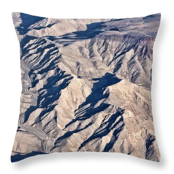 Throw Pillow featuring the photograph Desert Mountain Road by Linda Phelps