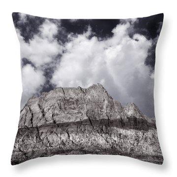 Desert Mountain Showing Iron Oxide Stripe Throw Pillow
