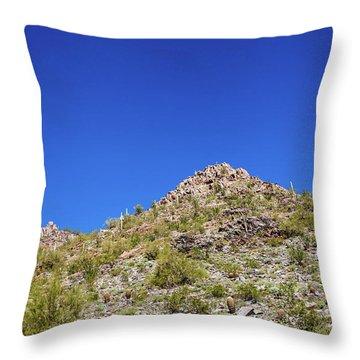 Desert Mountaintop Throw Pillow by Ed Cilley