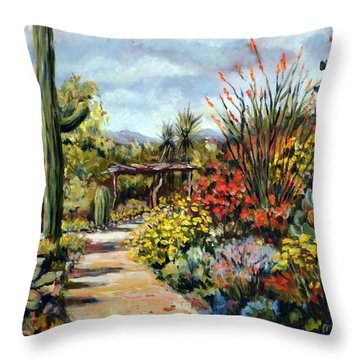 Desert Museum Garden Tucson Throw Pillow