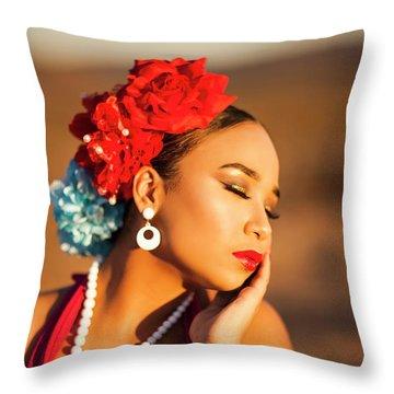 Desert Pearl Throw Pillow