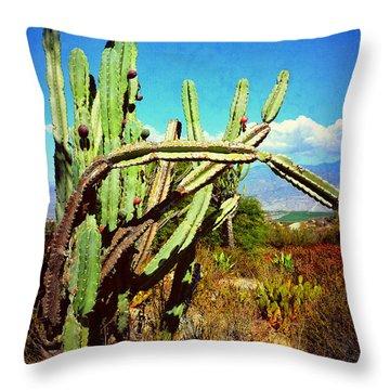 Desert Plants - Westward Ho Throw Pillow