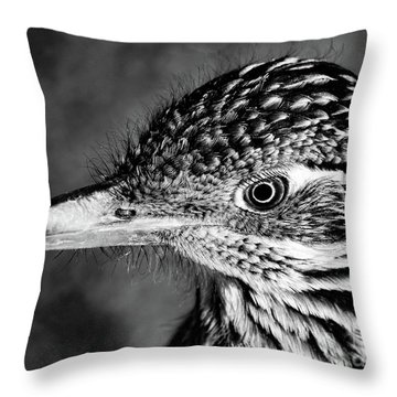 Desert Predator, Black And White Throw Pillow