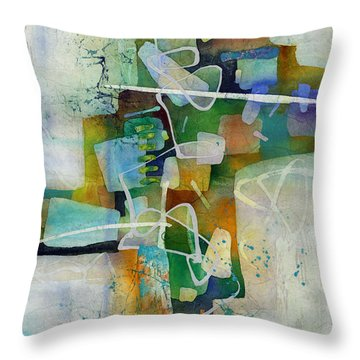 Desert Pueblo  Throw Pillow by Hailey E Herrera