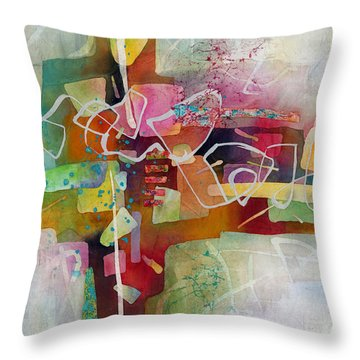 Desert Pueblo 2 Throw Pillow by Hailey E Herrera