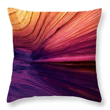 Desert Rainbow Throw Pillow